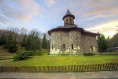 Monastery Prislop in Hunedoara, Romania pilgrimage. Peaceful and beautiful travel destination in Romanian Carpathians mountains Royalty Free Stock Image