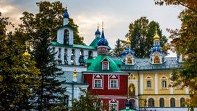 Monastery in the Pskov. Monastery and cross in the Pskov Royalty Free Stock Image