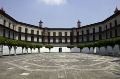 Monastery in Puebla. Mexico. The old monastery and prison in Puebla. Now is a library. (Mexico Stock Photos