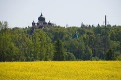 Monastery puhtitsa stock images