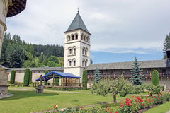 The Monastery Putna. Exterior garden. Royalty Free Stock Images