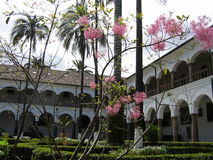 Monastery in Quito. San Francisco monastery in Quito Royalty Free Stock Photo