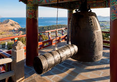 Monastery ring bell at Sanbanggulsa buddhist temple Royalty Free Stock Photography
