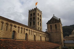 Monastery in Ripoll, Spain Royalty Free Stock Photo