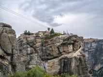 Monastery on the rock stock image