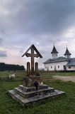 Monastery in Romania. With a storm coming Royalty Free Stock Photos