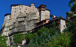 Monastery Rousannou at Meteora Royalty Free Stock Photos
