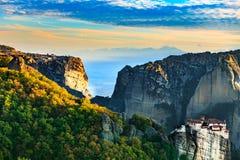 Monastery of Rousanou, Meteora Greece royalty free stock images