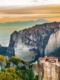 Monastery of Rousanou, Meteora Greece stock photography
