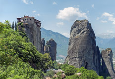 Monastery of Roussanou, Meteora, Greece Stock Photo