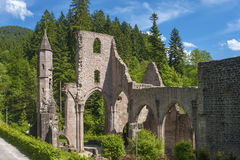 The monastery ruins of All Saints Allerheiligen in Oppenau Royalty Free Stock Photography