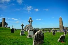 Monastery ruins, Clonmacnoise, Ireland Stock Photography