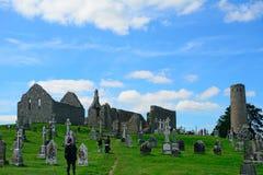 Monastery ruins, Clonmacnoise, Ireland Royalty Free Stock Images