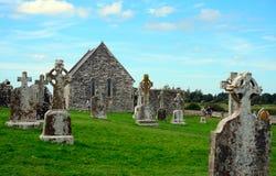 Monastery ruins, Clonmacnoise, Ireland Stock Images