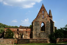Monastery ruins. Ruins of the old monastery royalty free stock photo