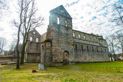 Monastery ruins in Paulinzella in Thuringia. The Monastery ruins in Paulinzella in Thuringia stock photography