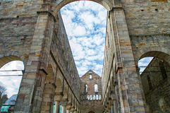 Monastery ruins in Paulinzella in Thuringia. The Monastery ruins in Paulinzella in Thuringia royalty free stock photos
