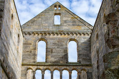Monastery ruins in Paulinzella in Thuringia Germany. The Monastery ruins in Paulinzella in Thuringia Germany royalty free stock image