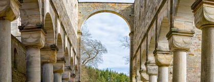 Monastery ruins in Paulinzella in Thuringia Germany. The Monastery ruins in Paulinzella in Thuringia Germany royalty free stock photography
