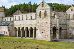 Monastery ruins in Paulinzella in Thuringia Germany. The Monastery ruins in Paulinzella in Thuringia Germany royalty free stock images