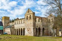 Monastery ruins in Paulinzella in Thuringia. The Monastery ruins in Paulinzella in Thuringia stock photo