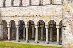 Monastery ruins in Paulinzella in Thuringia. The Monastery ruins in Paulinzella in Thuringia royalty free stock images