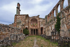 Monastery in ruins Stock Images