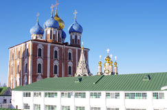Monastery in Ryazan Kremlin and churches Royalty Free Stock Photography
