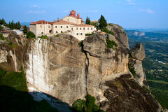 Monastery Sacred Stefan, Meteora, Greece. Orthodox Monastery Sacred Stefan (Agios Stefanos) on the rock, near Kalampaka, Meteora,  Fessalia, Greece Royalty Free Stock Photo