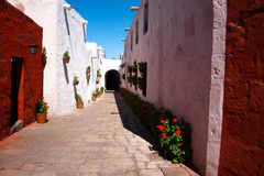 The Monastery of Saint Catherine, Arequipa. Peru, South America royalty free stock photography
