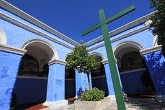 The monastery of Saint Catherine, Santa Catalina, Arequipa, Peru. The famous monastery of Saint Catherine, Santa Catalina, in Arequipa, Peru. It belongs to the royalty free stock image