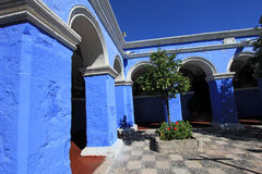 The monastery of Saint Catherine, Santa Catalina, Arequipa, Peru. The famous monastery of Saint Catherine, Santa Catalina, in Arequipa, Peru. It belongs to the stock photo