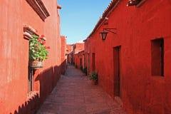 The monastery of Saint Catherine, Santa Catalina, Arequipa, Peru. Stock Images
