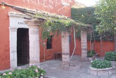 Monastery of Saint Catherine Spanish: Santa Catalina in Arequipa Peru, is monastery of nuns of Domincan Second Order It stock image