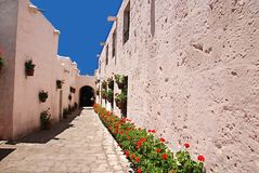The Monastery of Saint Catherine. (Spanish: Santa Catalina) is a monastery of nuns of the Domincan Second Order, located in Arequipa, Peru. It was built in 1580 royalty free stock images