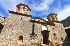 Monastery of Saint Dionysios at Greece Stock Photography