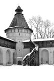 Monastery of Saint Euthymius in Suzdal in winter Royalty Free Stock Photo