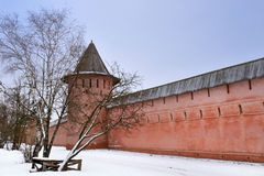 Monastery of Saint Euthymius in Suzdal in winter Royalty Free Stock Photos