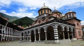 The Monastery of Saint Ivan of Rila, Rila Monastery. Panoramic view, famous Eastern Orthodox monastery, UNESCO heritage. Royalty Free Stock Photos