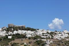 Monastery Saint John in Chora, Patmos Stock Image