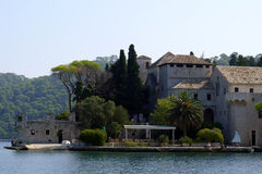 Monastery of Saint Mary,  Island Mljet, Croatia Royalty Free Stock Image