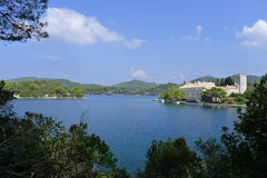 Monastery of Saint Mary,  Island Mljet, Croatia Stock Image