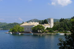 Monastery of Saint Mary,  Island Mljet, Croatia Stock Photo