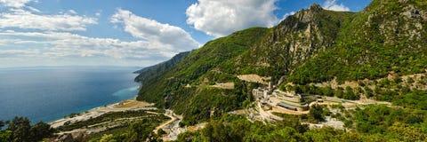 The monastery of Saint Paul, Mount Athos, Greece. The holy monastery of Saint Paul in the monastic republic of Mount Athos, Greece Royalty Free Stock Image