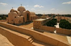 Monastery Deir Anba Bishoi, Egypt Stock Photos