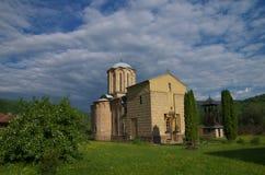Monastery Saint Sisoje and church of the Holy Transfiguration, Serbia stock image
