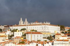 The Monastery of Saint Vincent Outside the Walls. In Lisbon, Portugal Royalty Free Stock Photo