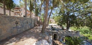 The monastery Kremaston, Crete, Greece. Monastery of Saints Michael and Gabriel - Kremaston Kremasti, Kremasta Crete, Greece. The monastery Kremaston was founded stock photos