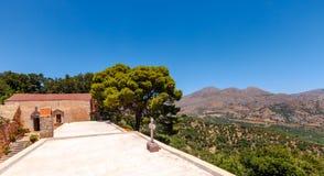 The monastery Kremaston, Crete, Greece. Monastery of Saints Michael and Gabriel - Kremaston Kremasti, Kremasta Crete, Greece. The monastery Kremaston was founded stock images