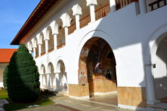 Monastery Sambata, Fagaras. Monastery Sambata is a Romanian Orthodox monastery in Sâmbăta de Sus, Brașov County, in the Transylvania region of Romania stock image